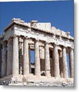 Parthenon Front Facade Metal Print by Jane Rix