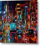Party Of Lights Metal Print by Debra Hurd
