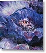 Passion In Blue Metal Print by Nadine Rippelmeyer