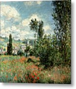 Path Through The Poppies Metal Print by Claude Monet