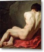 Patrocles Metal Print by Jacques Louis David