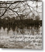 Peace I Leave With You Metal Print by Carolyn Marshall