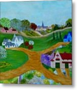 Peaceful Country Lanes Metal Print by Anke Wheeler