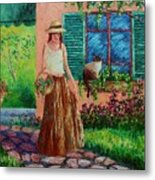 Peaceful Thoughts Metal Print by David G Paul