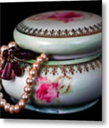 Pearls And Beads Metal Print by June Marie Sobrito