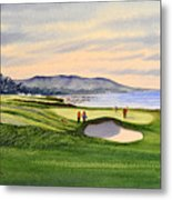 Pebble Beach Golf Course Metal Print by Bill Holkham