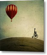 Penny Farthing For Your Thoughts Metal Print by Irene Suchocki