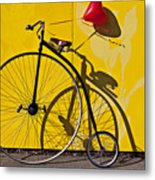 Penny Farthing Love Metal Print by Garry Gay