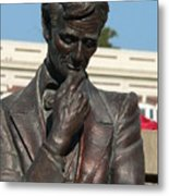 Pensive Lincoln Metal Print by David Bearden