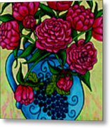 Peony Party Metal Print by Lisa  Lorenz