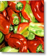 Peppers Metal Print by Nadi Spencer