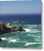 Perfect Mix Of Blue And Green Metal Print by Donna Blackhall