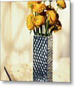 Persian Buttercup Metal Print by Tony Cordoza