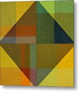 Perspective In Color Collage 8 Metal Print by Michelle Calkins