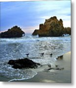 Pfeiffer Beach Evening - Big Sur Metal Print by Charlene Mitchell