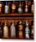 Pharmacy - Caution Don't Mix Together Metal Print by Mike Savad