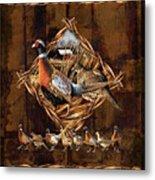 Pheasant Lodge Metal Print by JQ Licensing