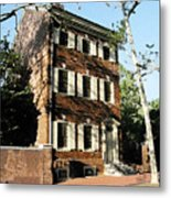 Phiily Row House 1 Metal Print by Paul Barlo