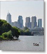 Philadelphia Along The Schuylkill River Metal Print by Bill Cannon