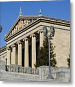 Philadelphia Museum Of Art Metal Print by Brendan Reals
