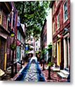 Philadelphia's Elfreth's Alley Metal Print by Bill Cannon