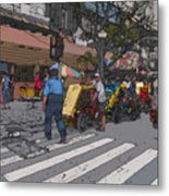 Philippines 906 Crosswalk Metal Print by Rolf Bertram
