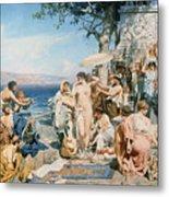 Phryne At The Festival Of Poseidon In Eleusin Metal Print by Henryk Siemieradzki