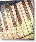 Piano Days Metal Print by Jutta Maria Pusl