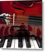 Piano Reflections Metal Print by Garry Gay