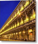 Piazza San Marco By Night Metal Print by Inge Johnsson