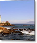 Pigeon Point Lighthouse Ca Metal Print by Christine Till