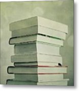 Piled Reading Matter Metal Print by Priska Wettstein