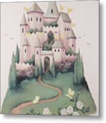 Pink Castle Metal Print by Suzn Smith