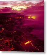 Pink Volcano Sunrise Metal Print by Ron Dahlquist - Printscapes