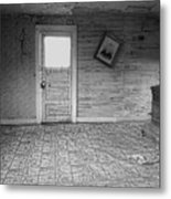 Pioneer Home Interior - Nevada City Ghost Town Montana Metal Print by Daniel Hagerman