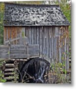 Pioneer Water Mill Metal Print by DigiArt Diaries by Vicky B Fuller