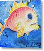 Piranha Art Metal Print by Joseph Palotas