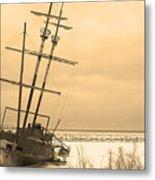 Pirates In The Harbour Metal Print by DebraLee Wiseberg