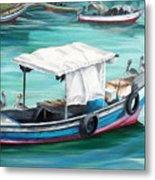 Pirogue Fishing Boat  Metal Print by Karin  Dawn Kelshall- Best