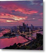 Pittsburgh Dawn Metal Print by Jennifer Grover