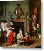 Playing At Doctors Metal Print by Frederick Daniel Hardy