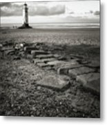Point Of Ayre Lighthouse Metal Print by Jon Baxter