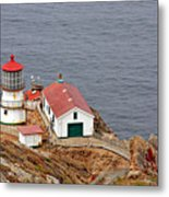 Point Reyes Lighthouse Ca Metal Print by Christine Till