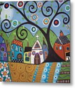 Polkadot Church Metal Print by Karla Gerard
