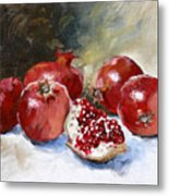 Pomegranate Metal Print by Tanya Jansen