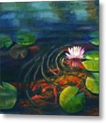 Pond Jewels Metal Print by Pat Burns