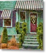 Porch - Westfield Nj - Welcome Friends Metal Print by Mike Savad