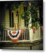 Porch Flag Metal Print by Michael L Kimble