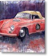 Porsche 356 Speedster Mille Miglia Metal Print by Yuriy  Shevchuk