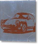 Porsche 911 Metal Print by Naxart Studio